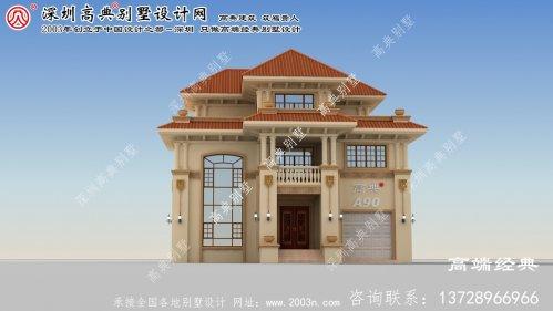 泗洪县欧式三层别墅外观照片及设计图纸