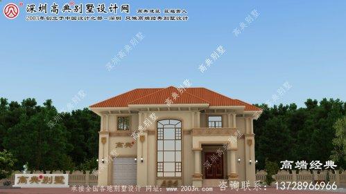 淮阴区二层农村自建欧式别墅