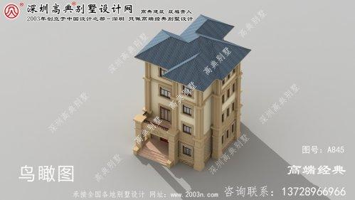 金门县农村别墅设计图,外型庄重大气