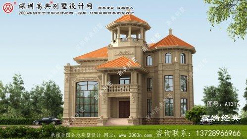 唐海县 四层农村别墅设计图