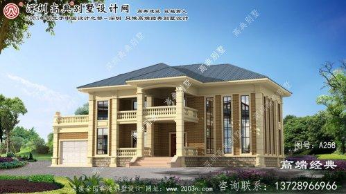 依兰县农村带堂屋复式别墅设计图