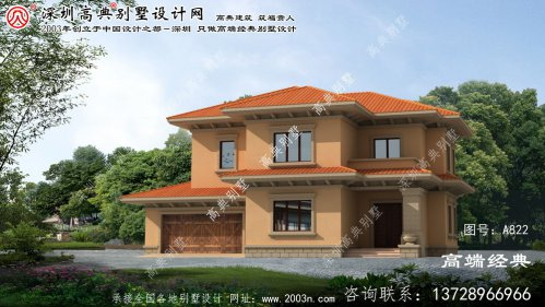 濮阳市两层乡村别墅设计图