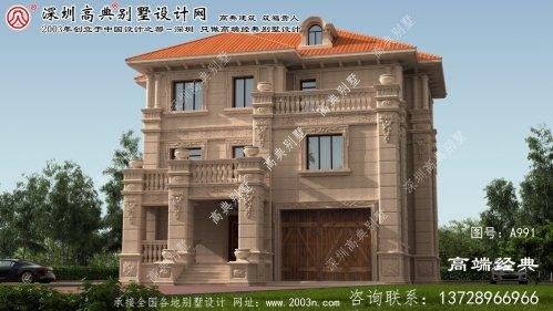 竹山县高档别墅设计图
