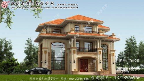 游仙区复式三层别墅平面图