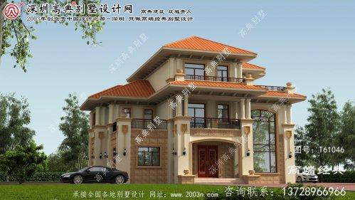 盐亭县农村别墅设计图三层