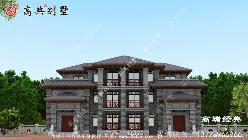 玉树藏族自治州农村自建房3层设计图