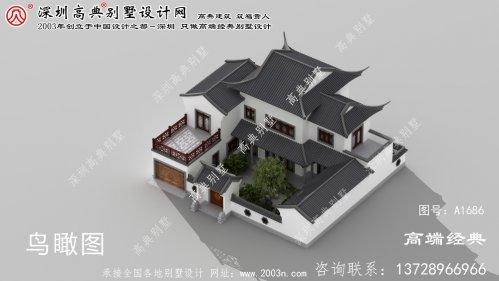 韶山市经典实用的两层苏式花园洋房