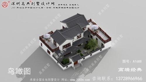 新邵县精美大方的两层中式别墅设计图样。