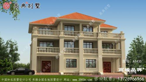 三层农村房屋设计图经济实惠的双拼别墅!