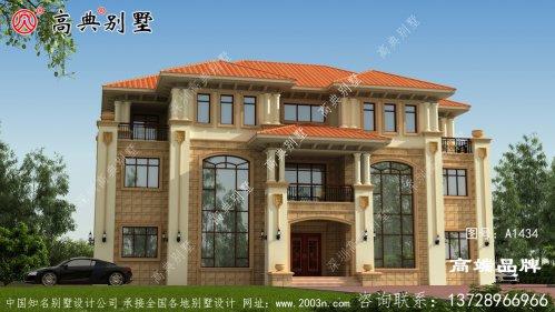 农村三层楼房设计图以满足大多数客户的使用 。