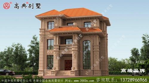 农村别墅建房设计图别墅造型结构精致端庄