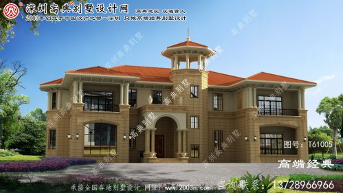晋中市欧式三层风格的别墅,是很受欢迎的别墅户型。