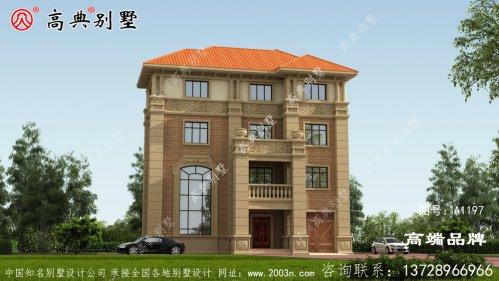 占地147平方的欧式四层别墅设计图雅致温馨型