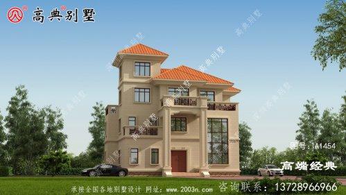 屋顶是斜坡设计利于排水,也增加了建筑整体的
