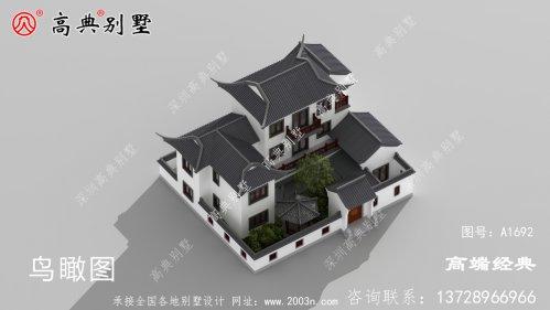 乐清市中式带小院民宿平面户型图,这种设计谁