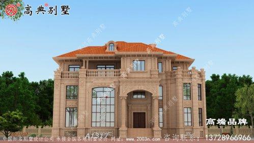 别墅整体比较方正,符合中国人的审美。