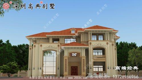 这款别墅外观上拒绝平庸的立面造型,富有层次感,看起来大气而亮眼