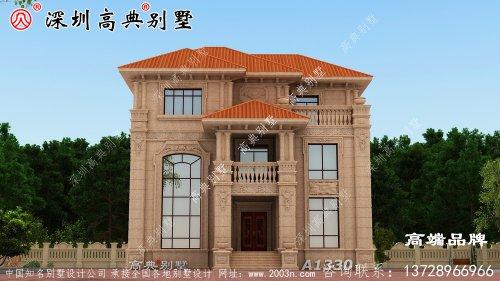 漂亮三层小别墅设计图,带露台和堂屋,简直是农村自建房典范