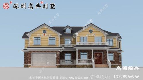 农村建造二楼,外观美观,是回乡盖房子的唯一