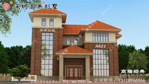 四层别墅设计精致美观,农村建筑必备。