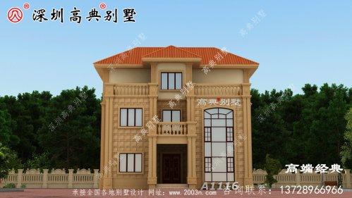村三层带阳台外观图别墅设计,时尚大方又得体