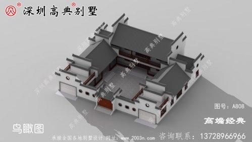 乡村二层小别墅图片,户型外观合理也不赖。