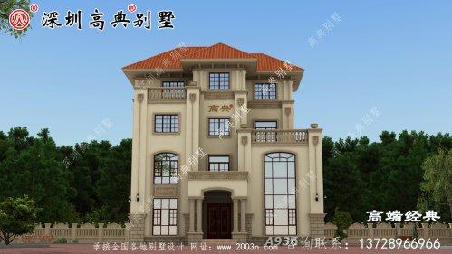 农村三层半普通楼房外观设计图,农村建房子的首选