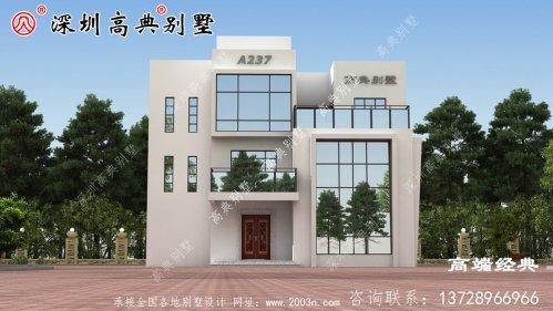 乡村三层别墅最美,经济实用,无需借钱即可建