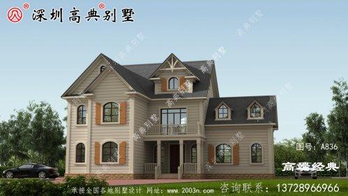 二层农村自建房,简欧风格