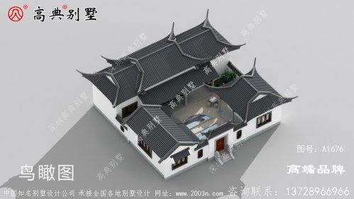 中式合院效果图,仿若明星上千万买的豪宅